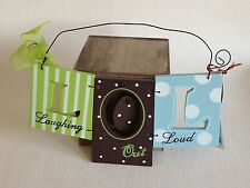 Laughing Out Loud LOL Wall Hanging Sign Plaque Shabby Chic Home Decoration Gift