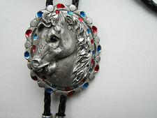 Bolo tie horses head design stagewear rock and roll wear country and western.