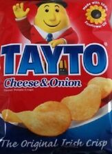 TAYTO CRISPS (CHEESE AND ONION CRISPS FROM IRELAND) 25x25g packets