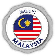 "Made In Malaysia Flag Stamp Car Bumper Sticker Decal 5"" x 5"""