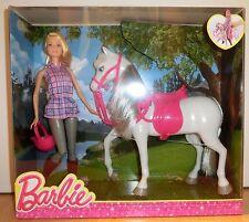 Mattel Barbie DHB68 - Modepuppen, Barbie und Pferd Neu & OVP