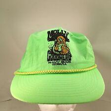 Molly Goodheads Raw Bar Ozona FL Flourescent Green Nylon Rope Front Snapback Hat