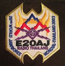 20TH World Scout Jamboree RADIO STAFF BADGE GOLD BORDER  2003