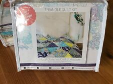 Triangle Patchwork Quilt Kit, Fabric, Batting & Instructions Inc Paper Template