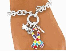 Autism Awareness Jewellery, Autism Ribbon Bracelet, Autism, Aspergers, DMDD,