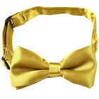 Goldenrod Boys Children kids Solid Bowtie Pre tied Wedding Party Bow Tie BC21