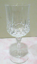 Cristal D' Arques 24% Lead Crystal  Longchamp 7-1/8 Wine Glasses- Set of 4- Used