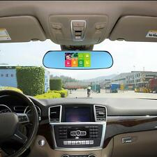 "5"" 1080P Android Car Rearview Mirror GPS Navi WIFI DVR Camera Recorder Z1X0"