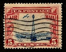 US Scott C11 5c Air Mail Beacon on Rocky Mountain USED F/VF HM P11 1928