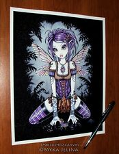 Fairy Art Gothic Dragonfly Water Addison Ltd Edition Embellished CANVAS PRINT