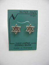 Sterling Silver Star Of David Stud Earrings New