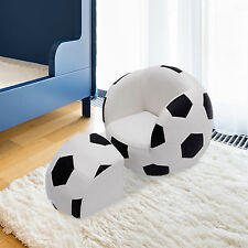 HOMCOM Kids Football Soccer Sofa Set Sofa Chair Seat Children Furniture