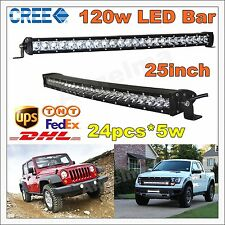 "Curved 25"" 120W CREE LED Light Bar Raptor Tacoma 4x4 JEEP TRUCK FORD Single Row"