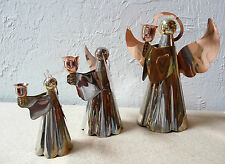 Metal Angel Candle Holders (Lot of 3)