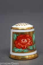 Royal Crown Derby Golden Flower China Thimble B/61