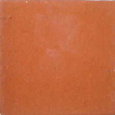 S#09) Set NINE Mexican Tiles Clay Tile SOLID TERRACOTTA COLOR
