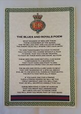 Blues and Royals Poem British Army Household Cavalry Division Horse Guards