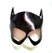 Black Leather Comic Book Batgirl Catgirl Dominatrix Cosplay Mask