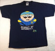 South Park Eric Cartman Shirt Respect My Authority Adult XL 1998 Comedy Central