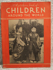 lot 2 old photo books CHILDREN AROUND THE WORLD photographs Faces of America