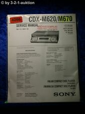 Sony Service Manual CDX M620 /M670 CD Player (#4266)