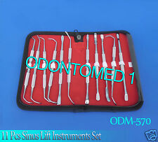 11 Pcs Sinus Lift Instruments Set Implant Dental Dentistry Double Ended-ODM-570