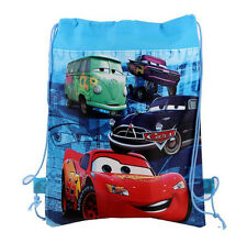 New Disney Cars McQueen Cartoon Drawstring Backpack Kids Drawstring School Bag