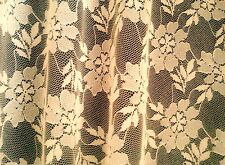 Beautiful Cream 2.6 Metre Wide All Over Lace Patterned 'Long Net' Curtaining