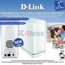 D-Link DNS-327L  SHARECENTER+ 2BAY CLOUD STORAGE GIGABIT NAS ENCLOSURE SATA I/II