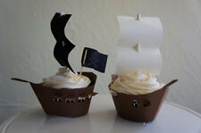 12 Ship and Pirate Ship Cupcake Wrappers