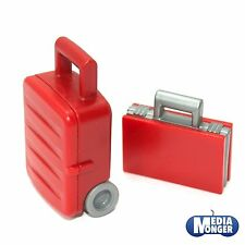 playmobil® Urlaub | Flughafen: Koffer-Set | Trolley | Koffer | rot