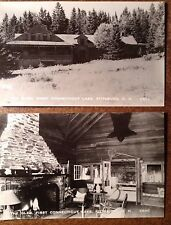 CONNECTICUT LAKE Pittsburg NH THE GLEN 2 Real Photo Postcards 1 w/ Bear Skin