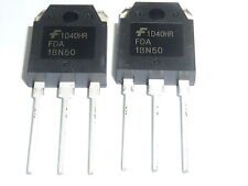 2PCS FDA18N50 FDA 18N50 MOSFET N-CH 500V 19A TO-3P - BRAND NEW- 2 PACK