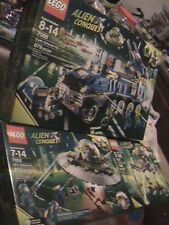 ALIEN CONQUEST LEGO LOT SEALED SET OF 3 7051 7066 7052 EARTH DEFENSE HQ TRIPOD