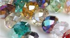 3X4MM Mixed color Crystal Quartz Rondelle Loose Beads 1000pc