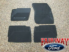13 thru 16 MKZ OEM Genuine Lincoln Black Rubber All Weather Floor Mat Set 4-pc
