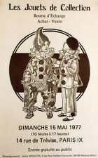 """LES JOUETS DE COLLECTION / BOURSE PARIS 1977""Affiche originale entoilée 40x61cm"