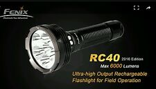 Fenix RC40 Rechargeable Flashlight 2016 Edition - 6000 Lumens -