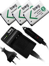 Chargeur et 3 Batterie pour SONY Cybershot DSC X60 DSC HX60V HX400 NPBX1 NP-BX1