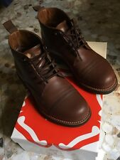 GRENSON RYAN BOOTS COMMANDO SOLE WING RRL GOODYEAR CO. BOWERY ANFIBI red UK 6-40