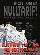 Kunstpostkarte - Klaus Staeck : Billigflieger / 2007