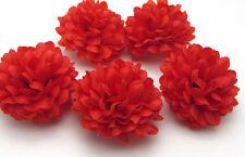 10 pcs Daisy Artificial flower Silk Spherical Heads Bulk Wedding Decor Red 5 CM