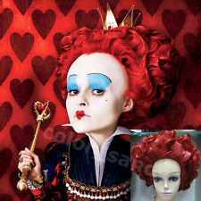 "Neu Cosplay wig ""Alice in Wonderland"" Queen of Hearts/The Red Queen Peruecke Rot"