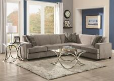 Casual Style Living Room Furniture Sectional Sofa Set Attached Back Couch Pillow