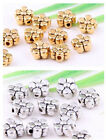 80/190Pcs Tibetan Silver/Gold(Lead-Free)Pretty Flower Spacer Beads Findings 5mm