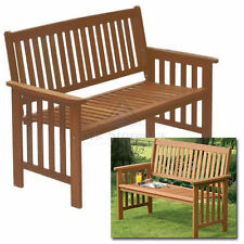 Wooden Garden 2 Seater Bench Hardwood Patio Furniture Wood Seat Lounge Read Lie