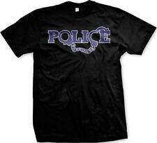 Police Handcuffs Protect and Serve Officer Cop First Responders Mens T-shirt