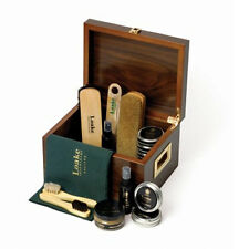 Loake Luxury Valet Box With Free Loake Laces 75cm blk  Shoe Boot Care Kit
