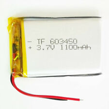 3.7V 1100mAh Lipo Polymer Battery For mp3 PAD Cell phone Camera radio GPS 603450