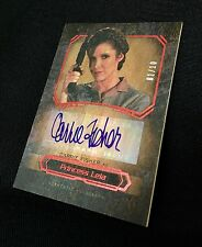 CARRIE FISHER WOOD AUTO /10 TOPPS MASTERWORK PRINCESS LEIA AUTOGRAPH RARE 2016